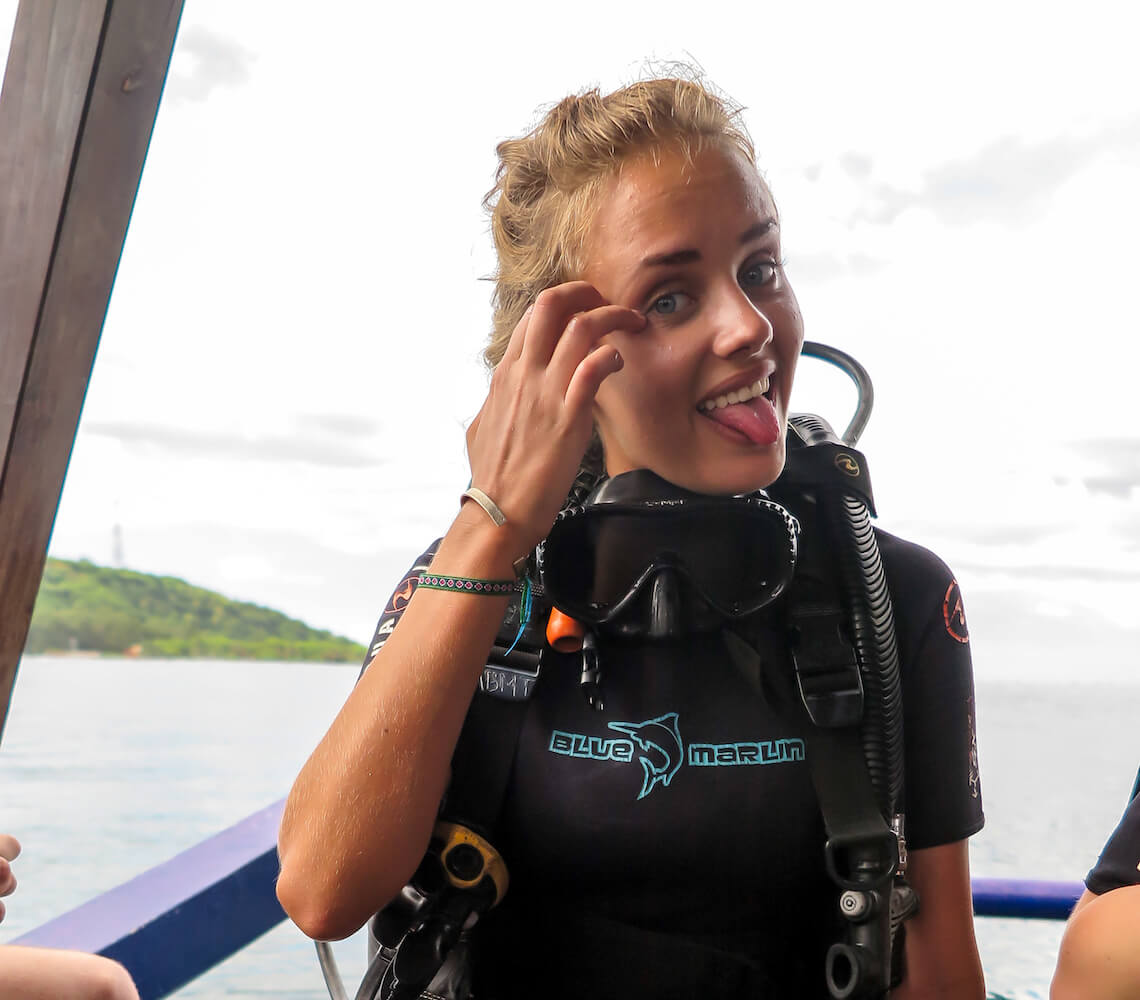 Blue Marlin is a place for happy divers in the Gilis.